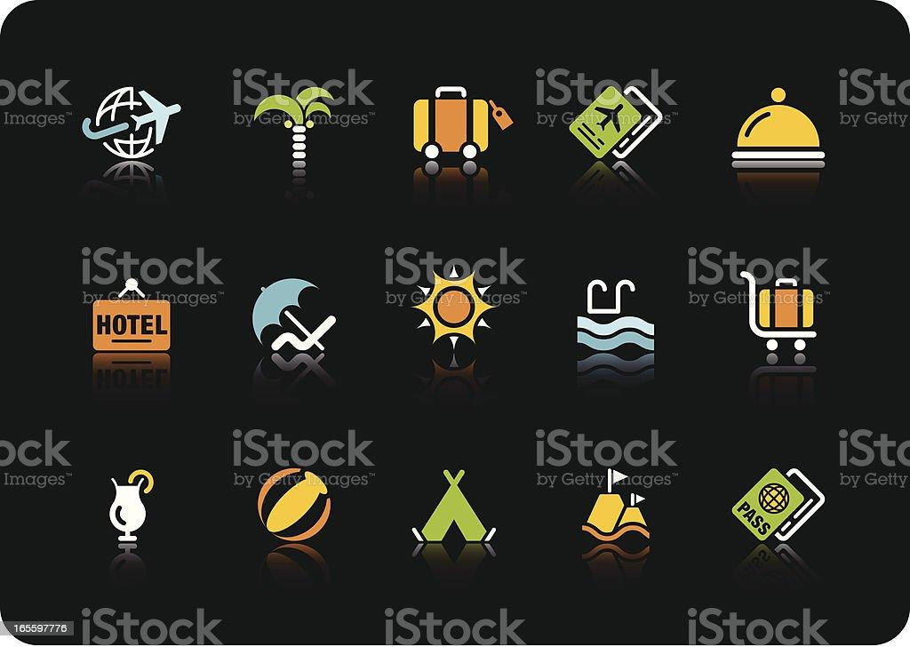 Iconos de colores de verano-Serie ilustración de iconos de colores de veranoserie y más banco de imágenes de agua libre de derechos