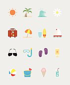 16 Summer icons color