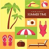 Summer icons set 2