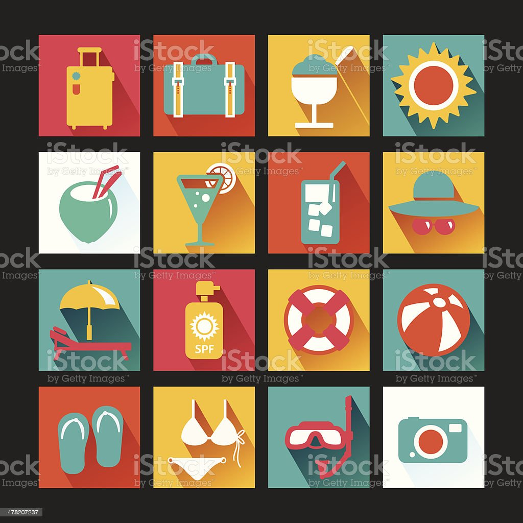 Summer Icons Set design. royalty-free stock vector art