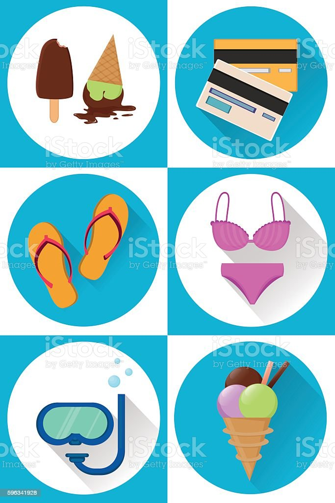 Summer icons set royalty-free summer icons set stock vector art & more images of backgrounds