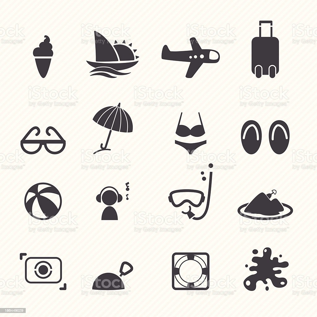 Summer Icons royalty-free summer icons stock vector art & more images of ball