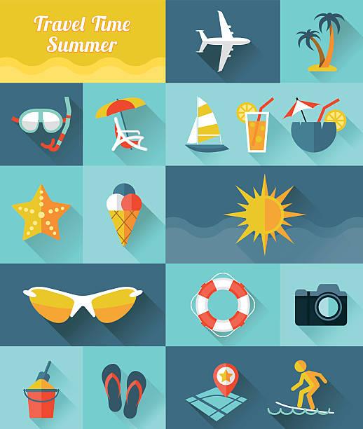 Sommer-Symbole – Vektorgrafik