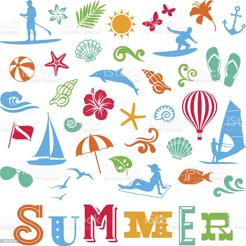 夏のアイコン - いかりのベクターアート素材や画像を多数ご用意
