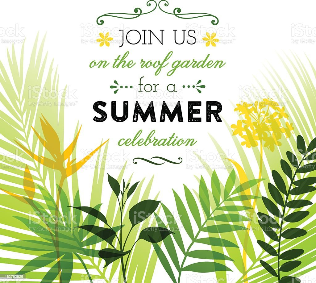 summer invitation design stock vector art more images of abstract