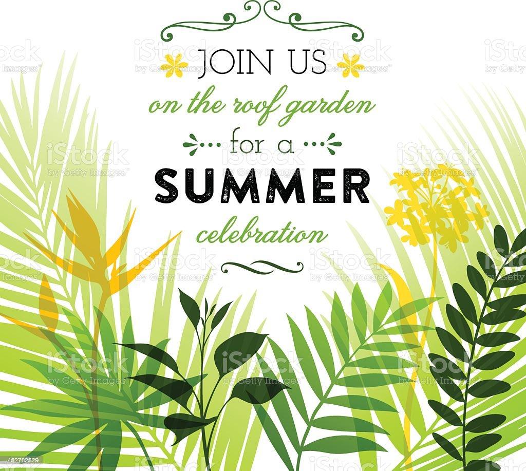 Summer Invitation Design
