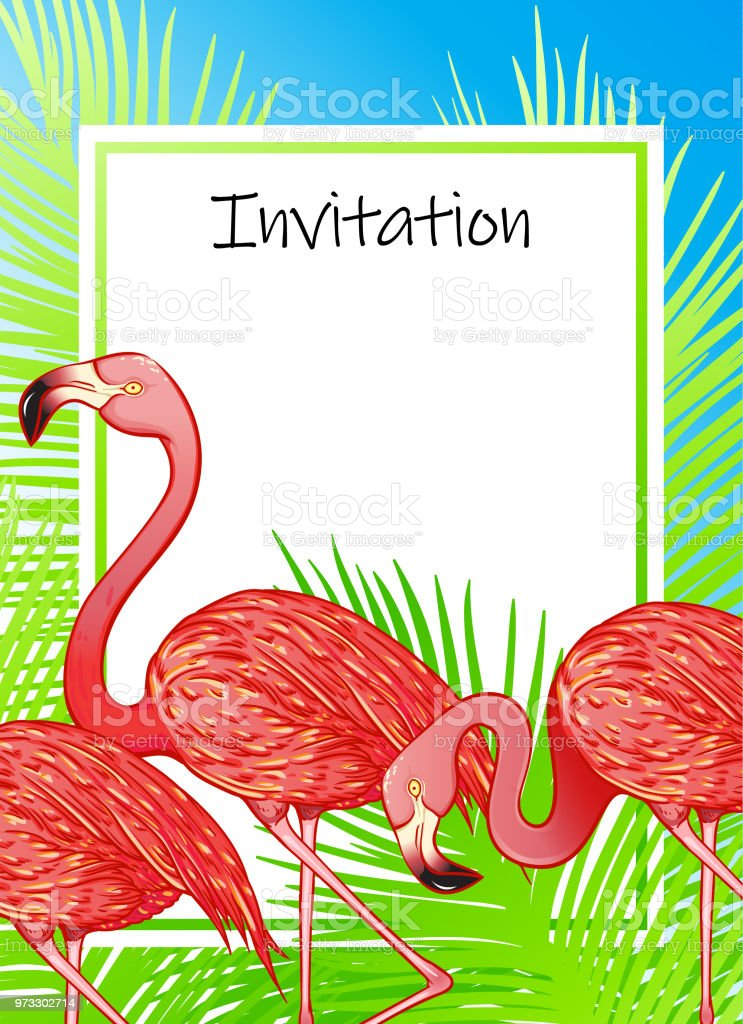 summer invitation template stock vector art more images of animal