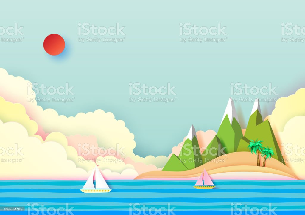 Summer island and travel concept design. royalty-free summer island and travel concept design stock vector art & more images of adventure