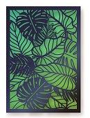 Summer jungle foliage greeting card.
