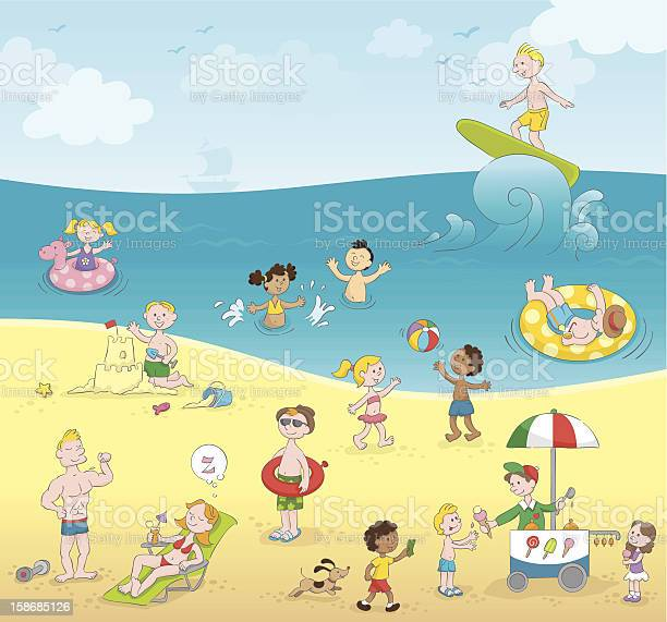 Summer kids playing beach 5 millionth approved istock file vector id158685126?b=1&k=6&m=158685126&s=612x612&h=skrwfmdq5tah99et1h rs6ges3xf ftfcne6naw sf4=