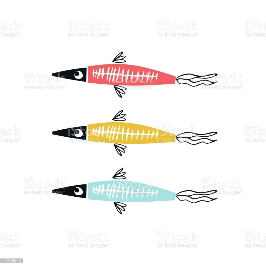 fische zum ausschneiden  ausmalbilder