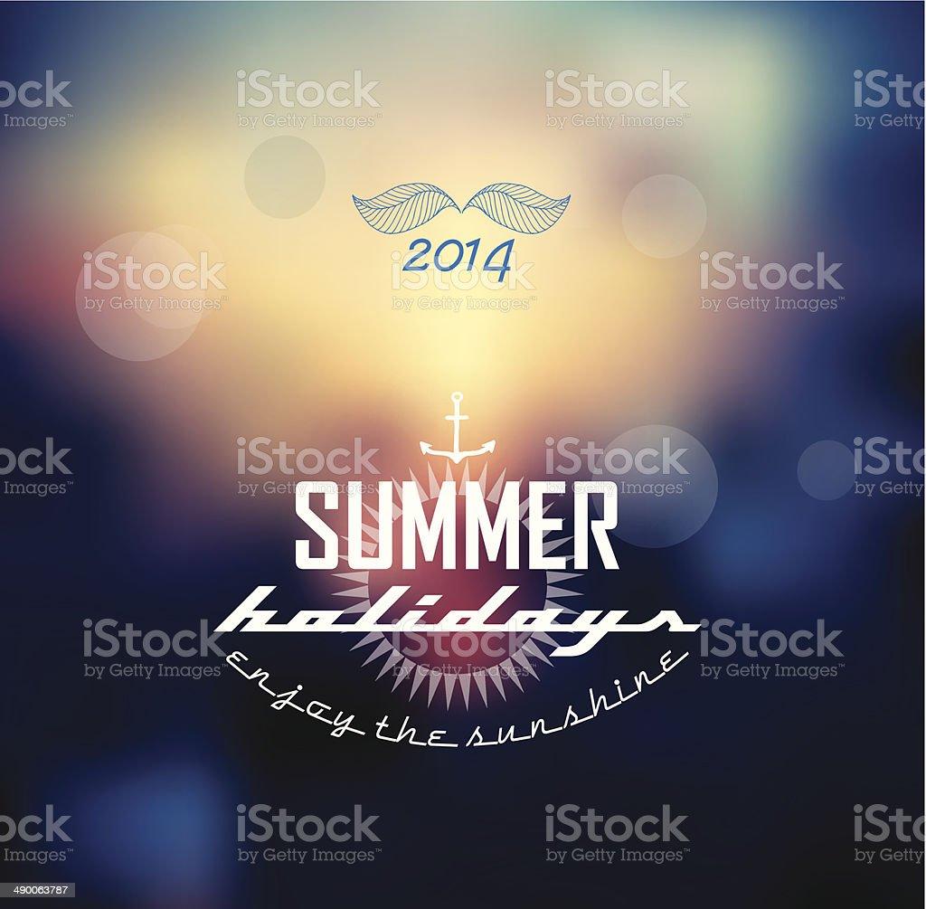Summer label. vector art illustration