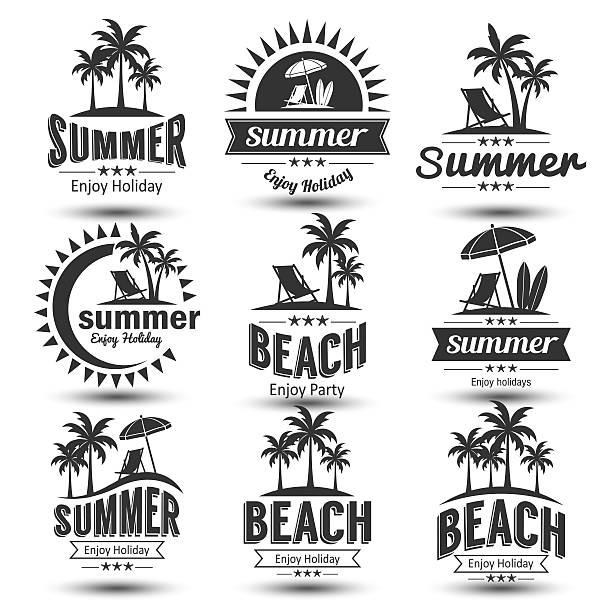 Etiqueta de verano - ilustración de arte vectorial