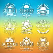 Summer Label Vector