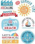 Summer Labels and Design Elements