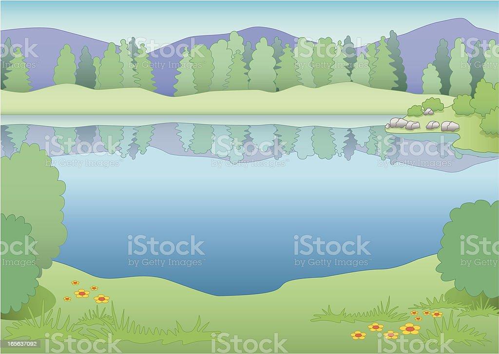 summer lake royalty-free stock vector art
