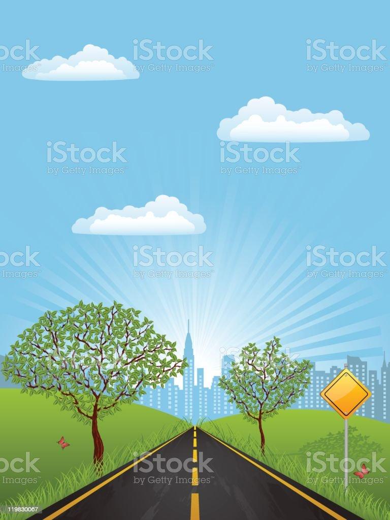 Summer landscape royalty-free summer landscape stock vector art & more images of backgrounds