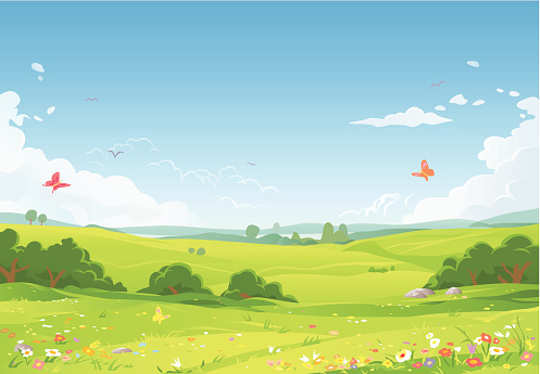 Nature and landscape stock illustrations