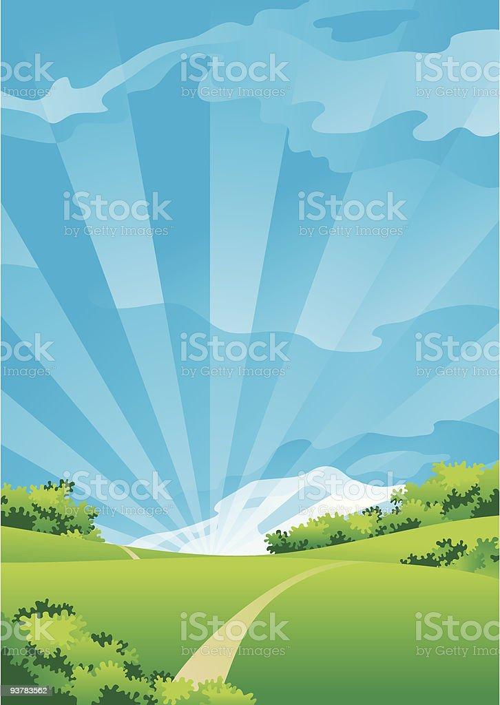 summer landscape royalty-free summer landscape stock vector art & more images of art and craft