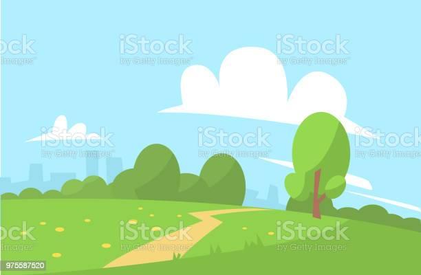 Summer landscape vector illustration cartoon style vector id975587520?b=1&k=6&m=975587520&s=612x612&h=nmbi6dqwfrdmc vdril 8x0ehsigon4fiwf5f4s1egm=
