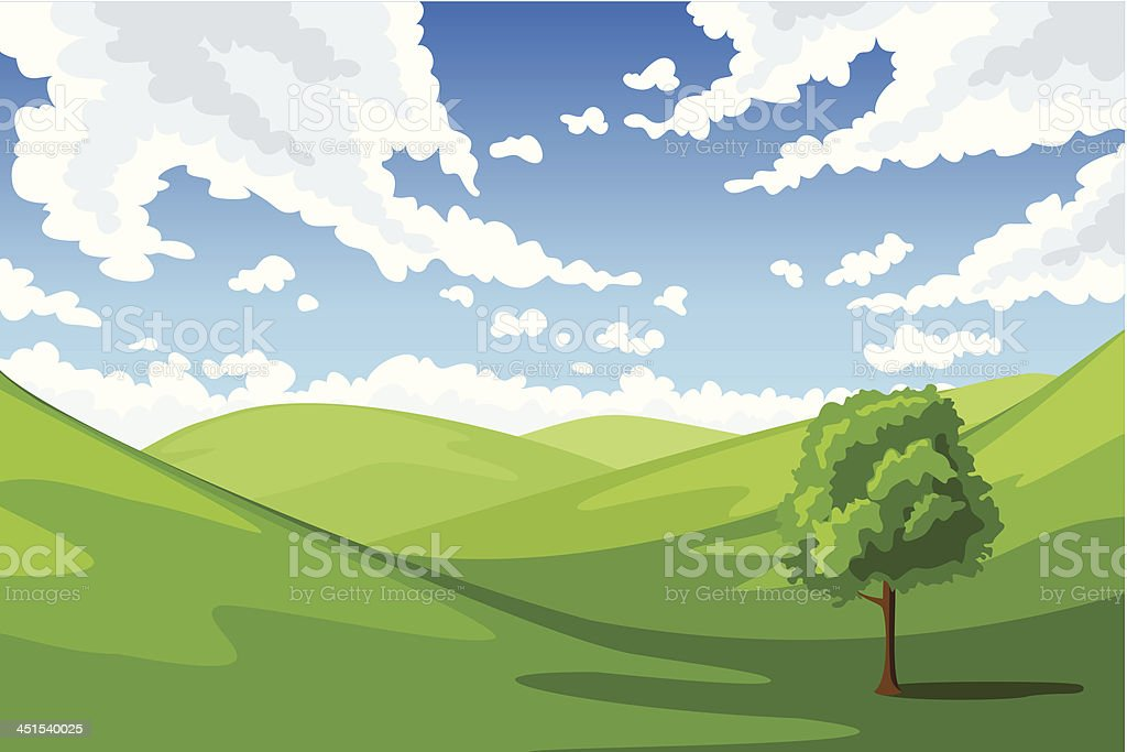 Summer landscape. Vector illustration. royalty-free stock vector art
