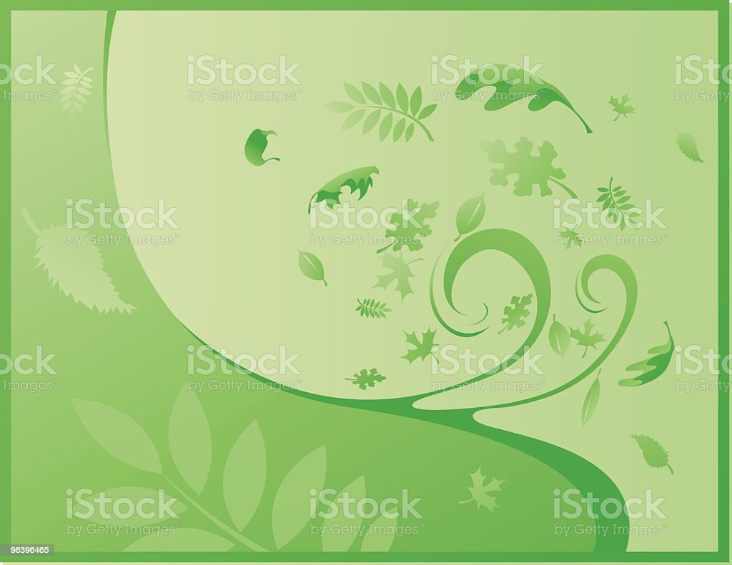 Summer Leafs - Royalty-free Abstract stock vector