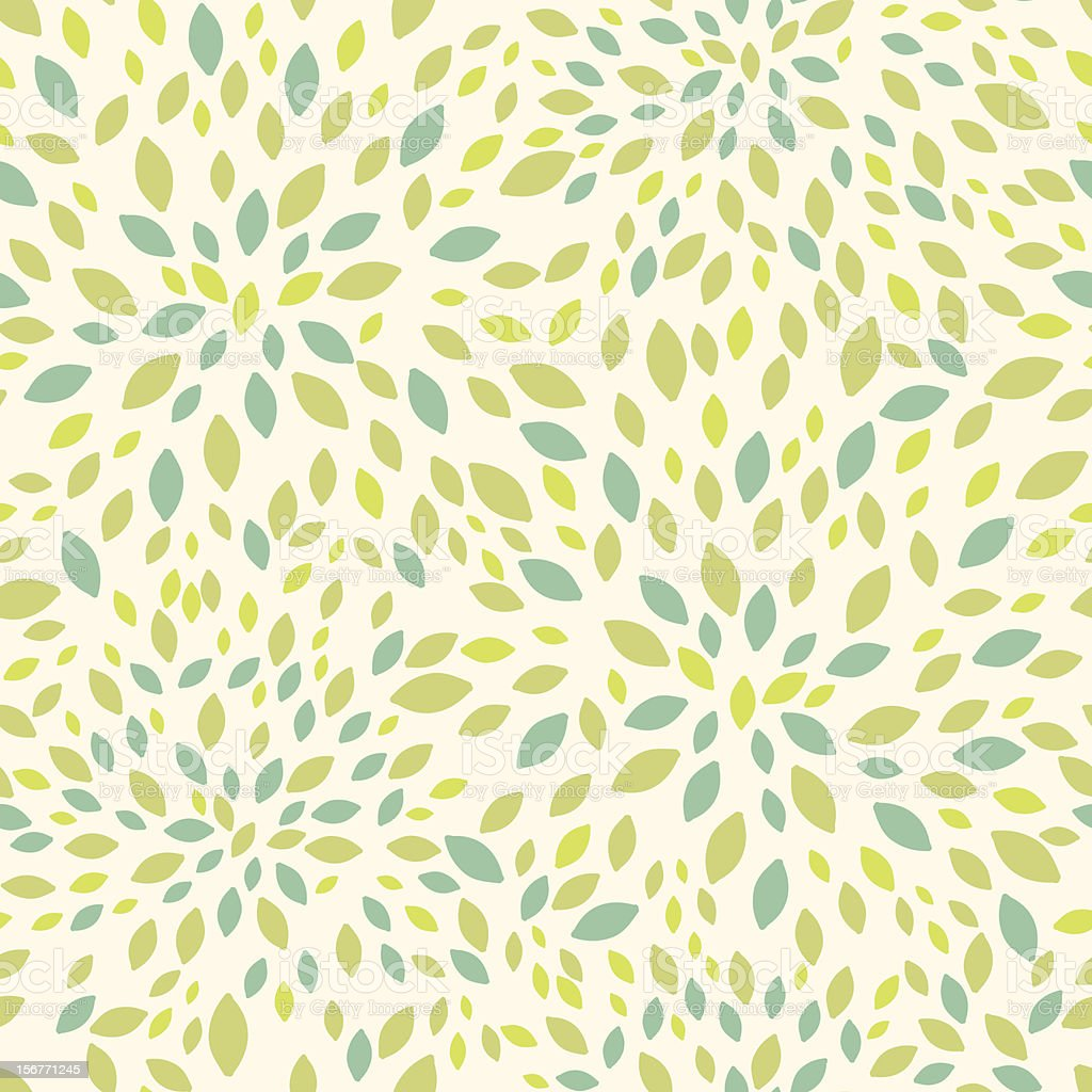 Summer leaves texture seamless pattern vector art illustration