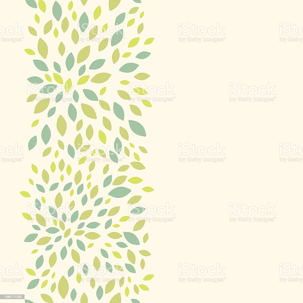 Summer leaves texture vertical seamless pattern vector art illustration