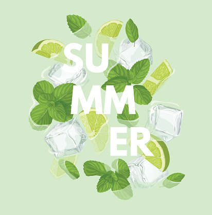 Summer letter with mojito