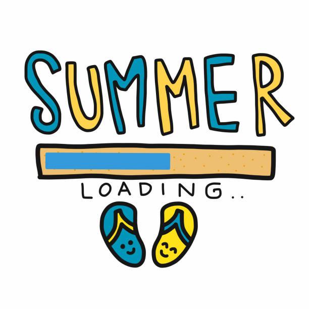 夏季裝載和涼鞋卡通向量插圖 - bar 幅插畫檔、美工圖案、卡通及圖標