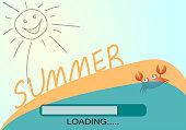 Summer loading cute sun.