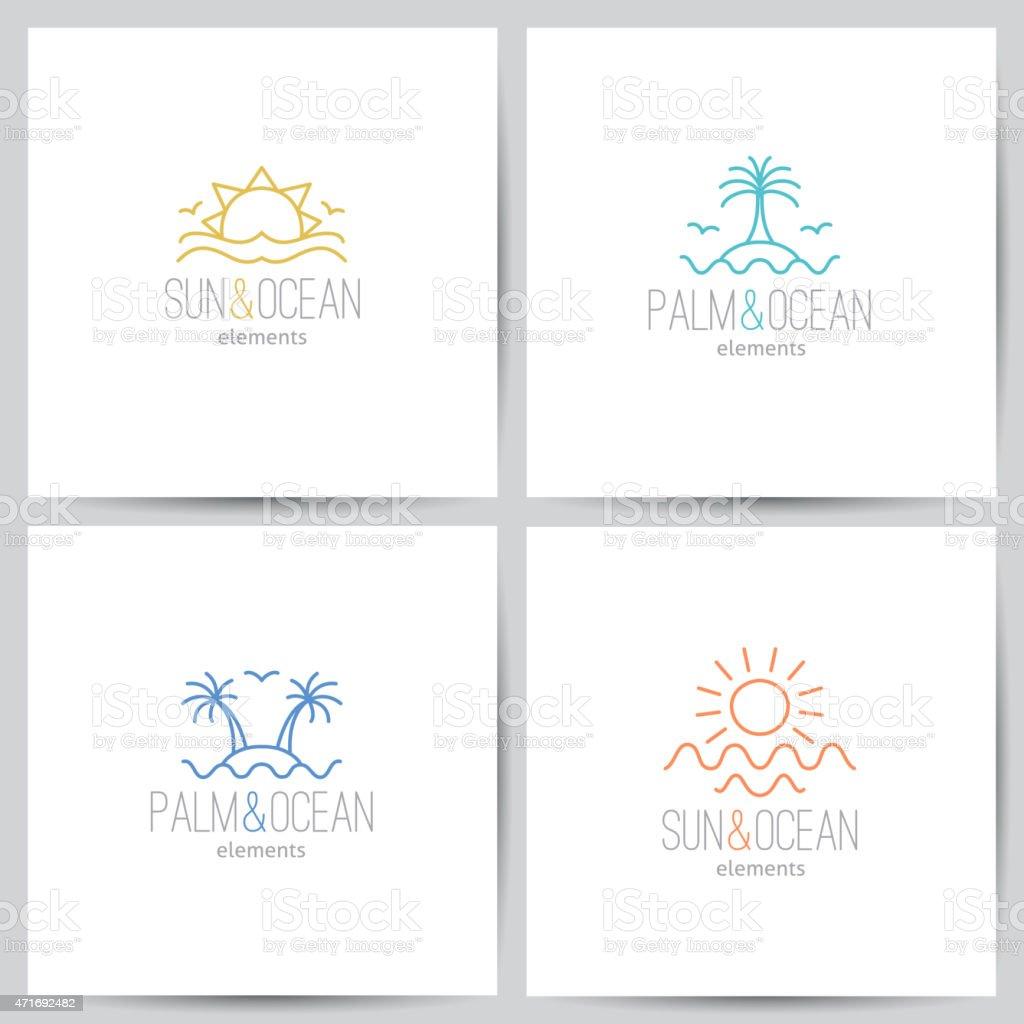 summer logo vector art illustration