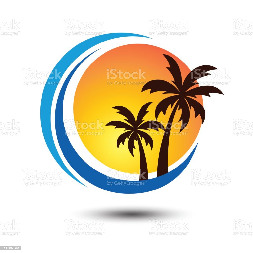 Vintage Adventure Logo: Summer Logo Stock Illustration