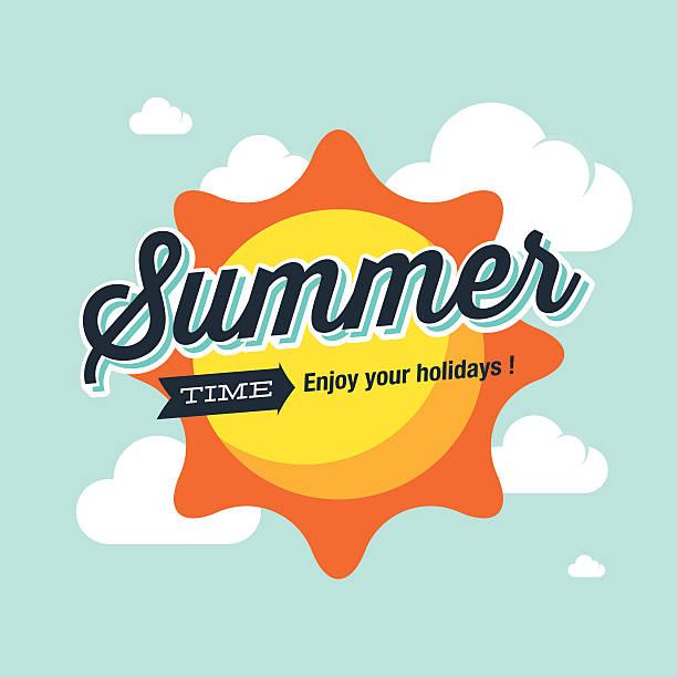 Summer logo vector illustration. Summer time, enjoy your holidays. vector art illustration