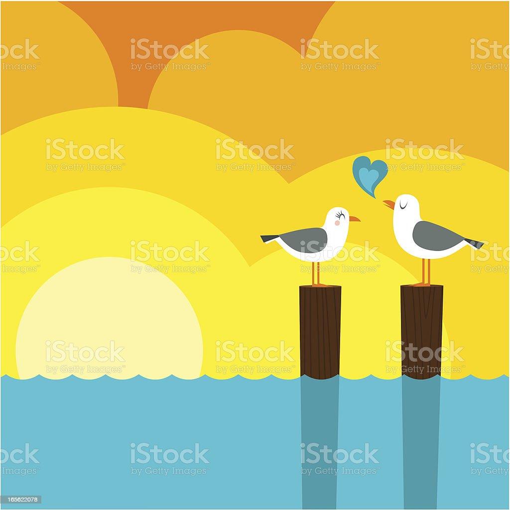 Summer love royalty-free stock vector art