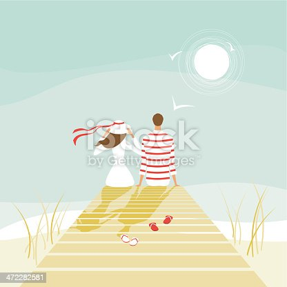 istock Summer lovers on a wharf 472282581