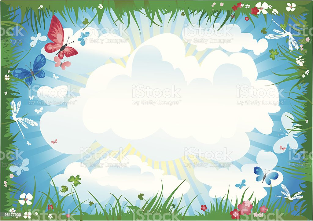 summer meadow frame royalty-free summer meadow frame stock vector art & more images of above
