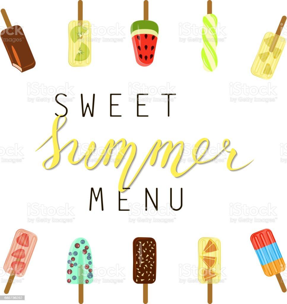 Summer menu banner summer menu banner - arte vetorial de stock e mais imagens de alimentação saudável royalty-free