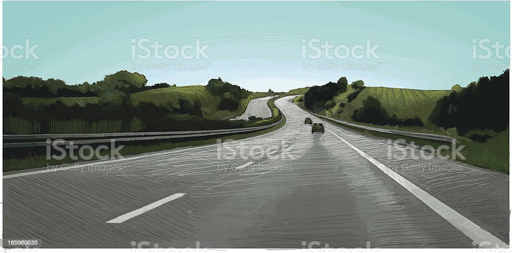 Summer Motorway royalty-free summer motorway stock vector art & more images of agriculture