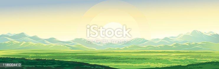 istock Summer mountain landscape 1185004412