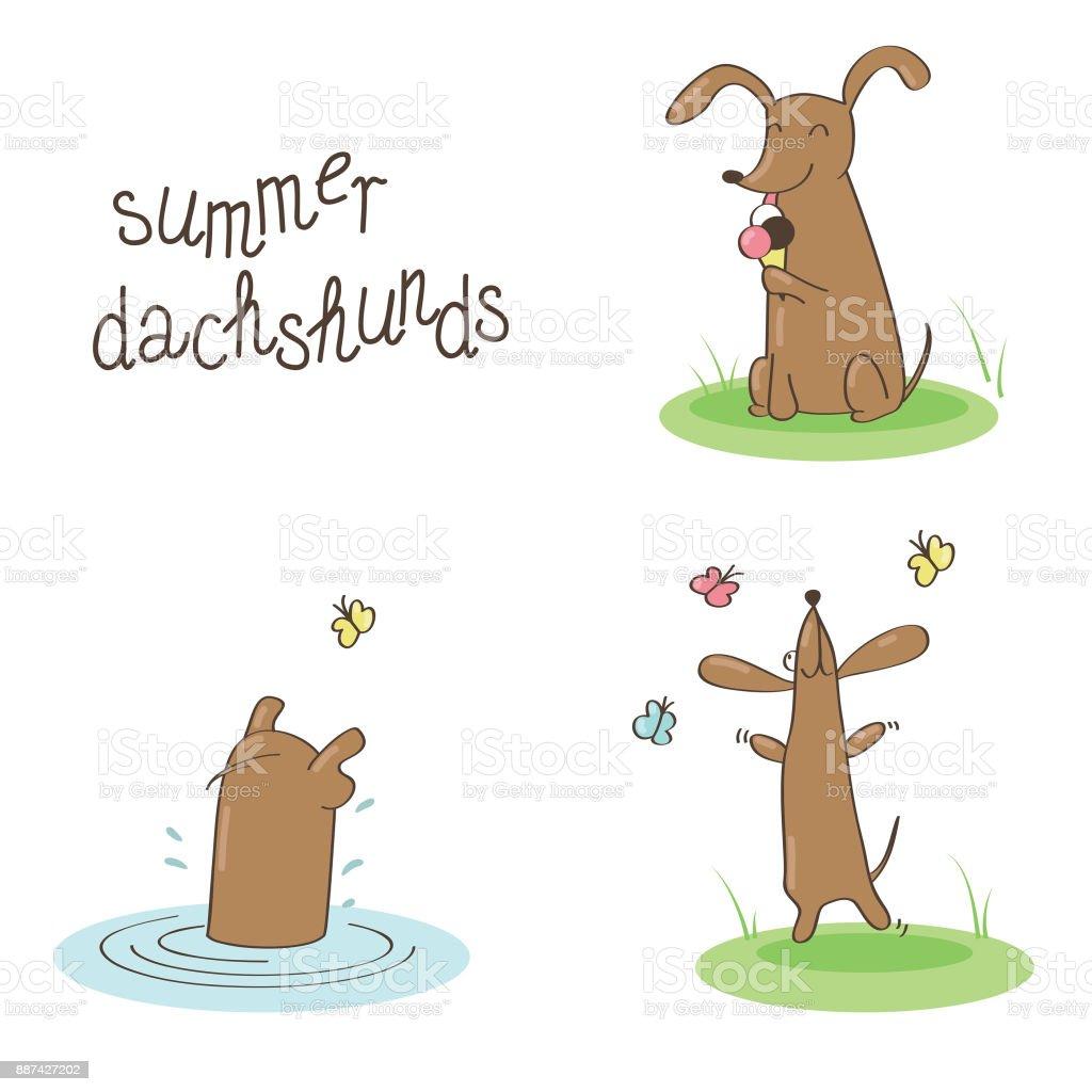 summer n vector art illustration