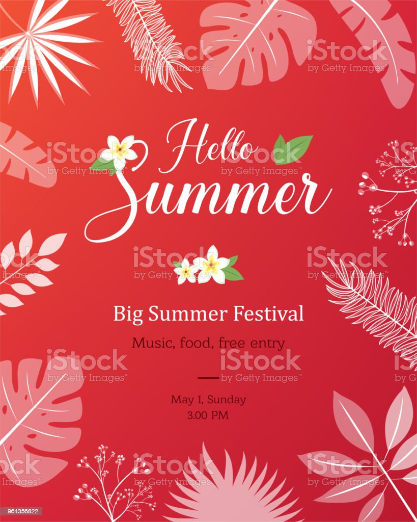 Cartaz de verão Natural, Poster, Flyer ou convite - Vetor de Balão - Símbolo Ortográfico royalty-free