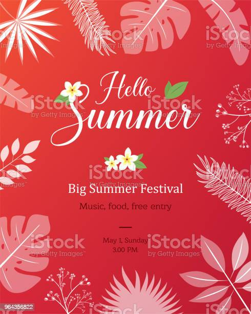 Vetores de Cartaz De Verão Natural Poster Flyer Ou Convite e mais imagens de Balão - Símbolo Ortográfico