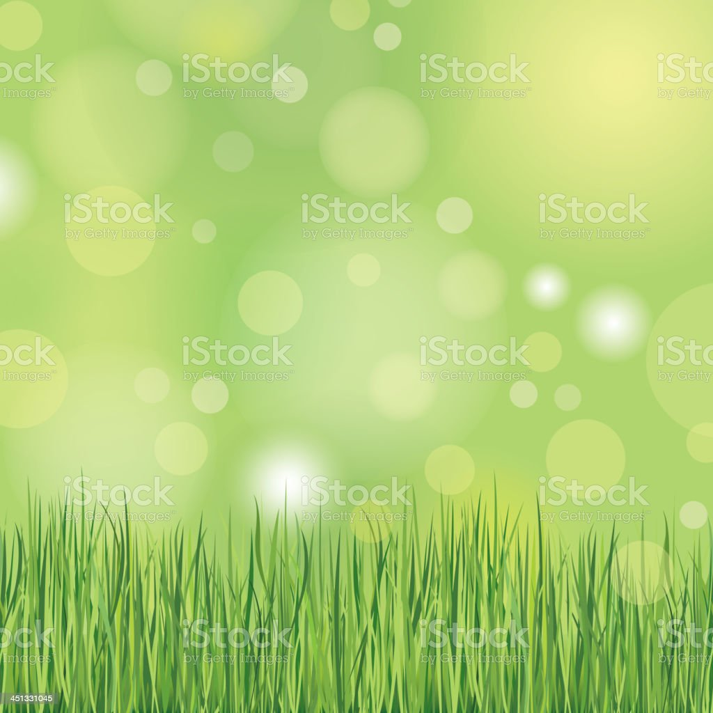 Summer Nature background with grass. royalty-free stock vector art