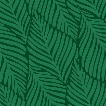 Summer nature jungle print. Exotic plant. Tropical pattern,