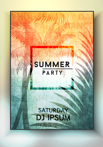 Summer night party poster design