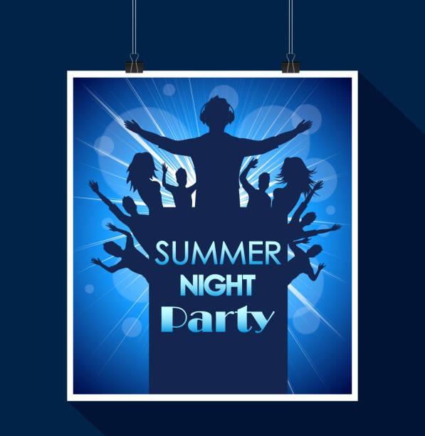 Nuit de Fête de l'été - Illustration vectorielle