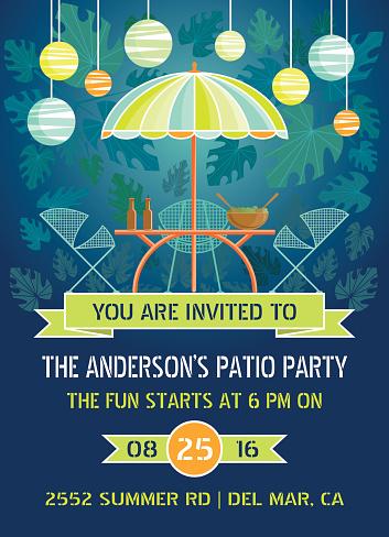 Summer Night Patio Party