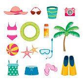 Summer Objects Icons Set