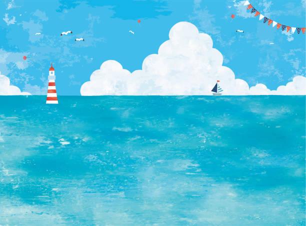 夏の海 - 海点のイラスト素材/クリップアート素材/マンガ素材/アイコン素材